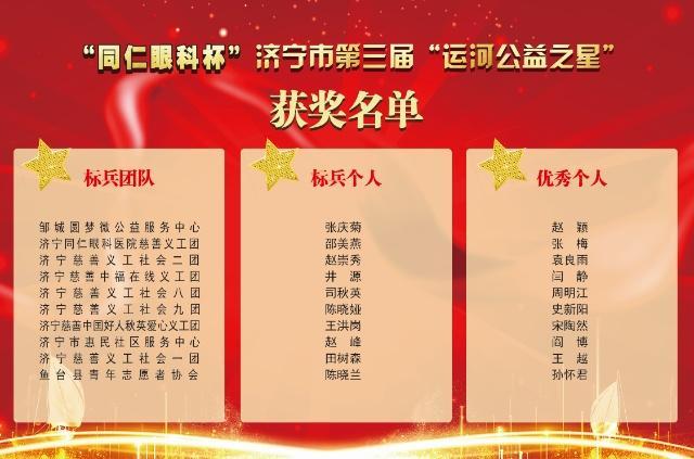 越平凡、越不凡,济宁市第三届运河公益之星颁奖